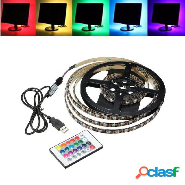 1M 2M 3M 4M Impermeable 5050 RGB LED USB Tira de Luz TV Kit