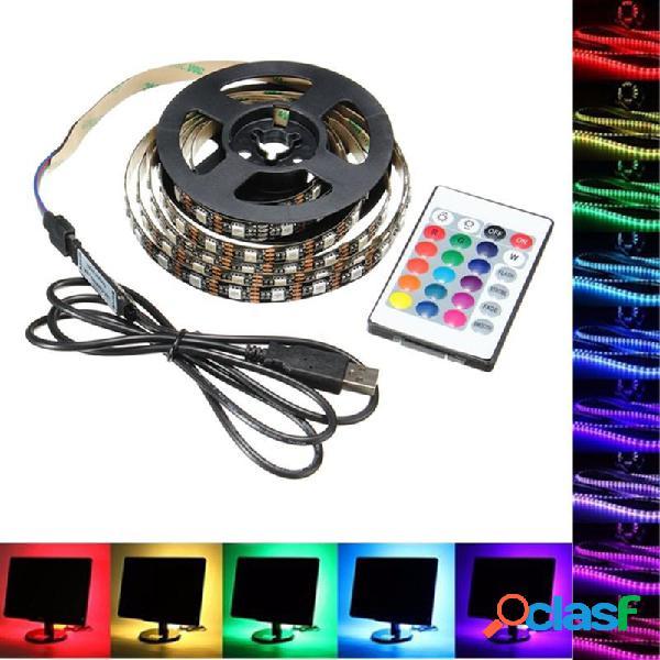 1M 2M 3M 4M USB 5V 5050 60SMD / M RGB LED luz de la tira de