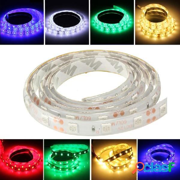 1m 5050 smd 60 LED LED tira flexible de luz roja / 12v