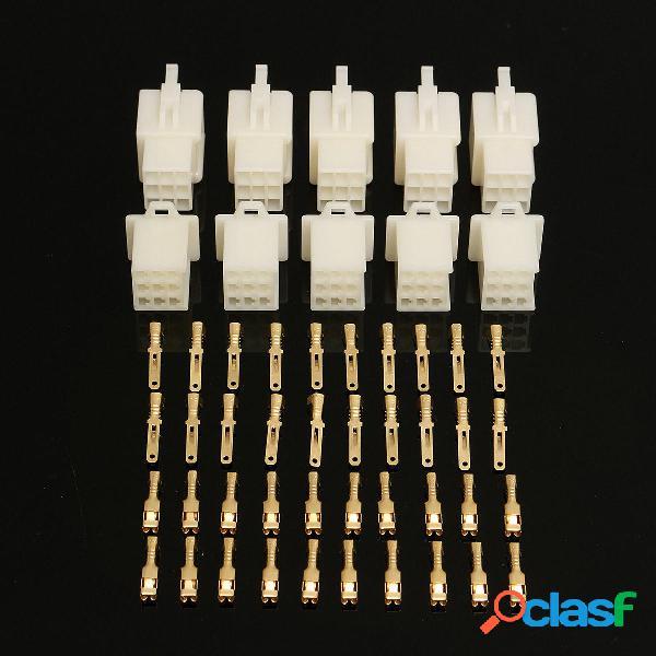 2 3 4 6 9 Vía 2.8mm Conector Kits de terminales Para Moto