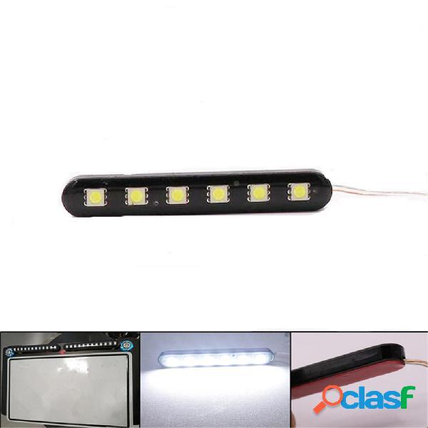 2 X LED Mini tiras Moto Coche Número de licencia Placa Luz