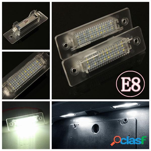 2 X blanco LED Lámpara de número de placa de luz para