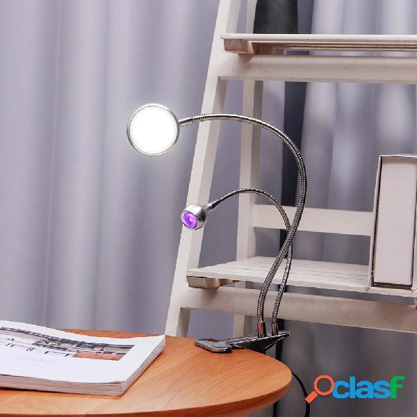 2 en 1 UV Glue Curing Lámpara Desktop Fixed Liquid UV Glue