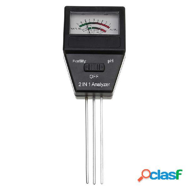 2 en 1 probador de pH del suelo medidor de feitility con 3
