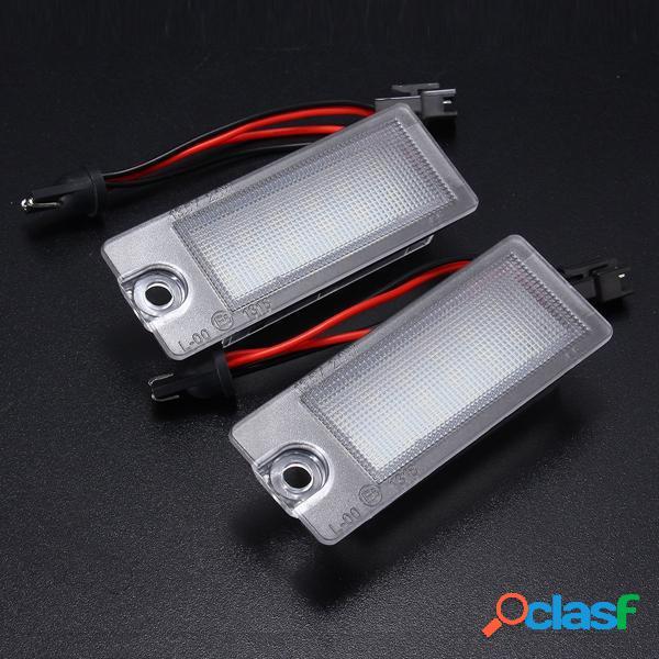 2 piezas 18 LED número de licencia Placa luces blancas para