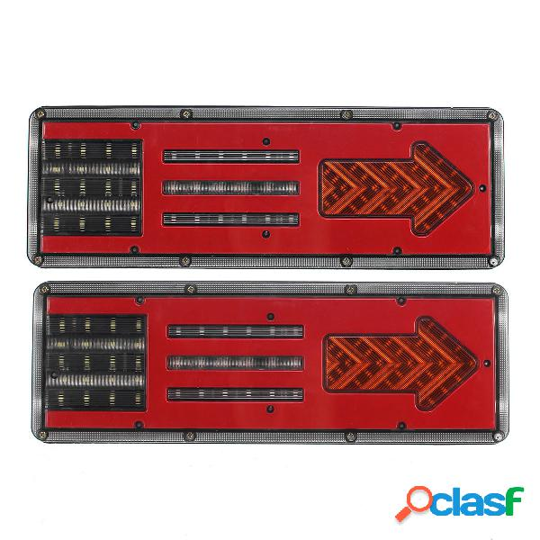 2 piezas 24 V Coche LED luces de freno de cola indicador de