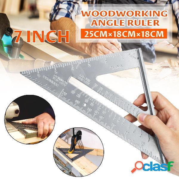 2 piezas de aleación de aluminio 7 Inch regla de ángulo