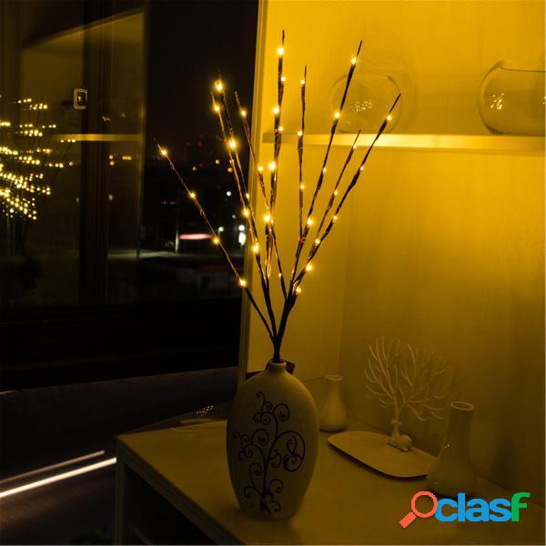 20 LED Rama de árbol Luz Fiesta de Navidad Jardín Batería