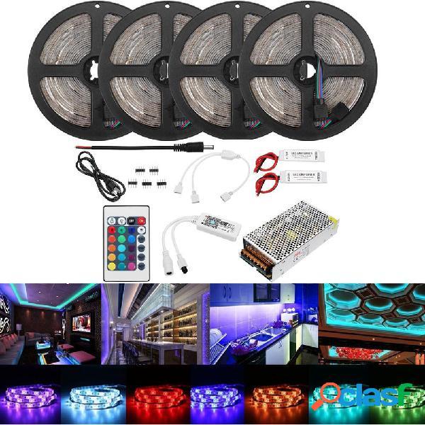 20M 2835 RGB Flexible Impermeable LED Kit de luz de tira
