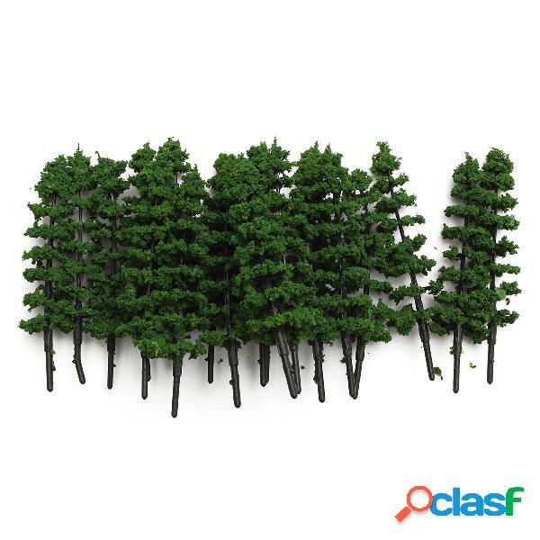 20pcs 1: 100 árboles de los abetos modelan el paisaje del