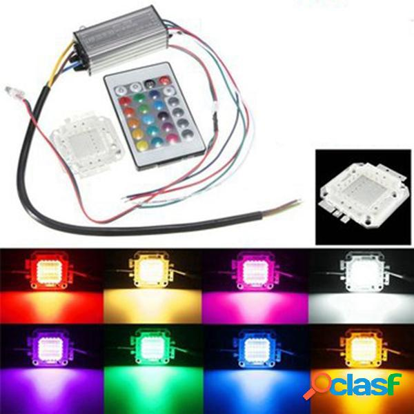 20w RGB bombilla viruta resistente al agua LED fuente de