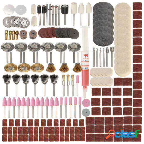 217pcs Rotary herramienta Conjunto de accesorios para Dremel