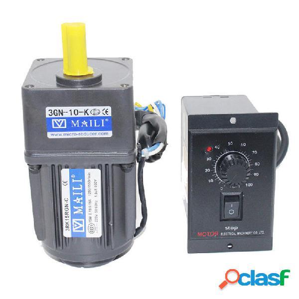 220V 15W AC Gear motor Controlador de velocidad 1:10 125 RPM