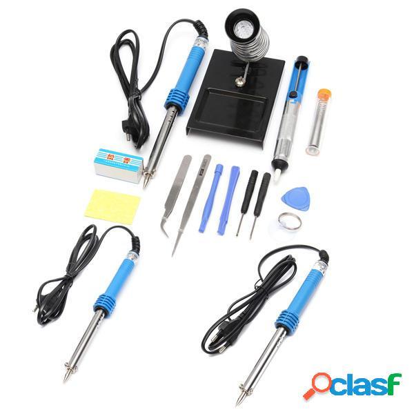 / 220v 60w enchufe de la UE soldador eléctrico conjunto kit