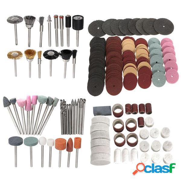 222pcs 1/8 Inch Shank Rotary herramienta Accesorios Bits Set