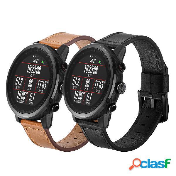 22mm Piel Genuina Reloj Banda Correa de reloj para la falta