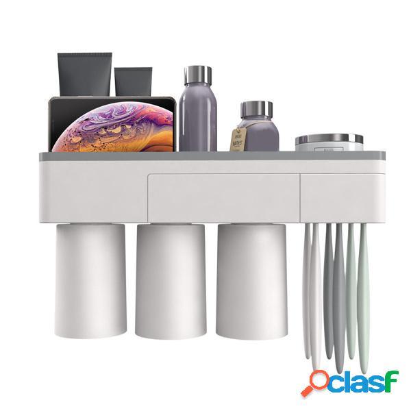2/3/4 tazas Soporte de cepillo de dientes de plástico
