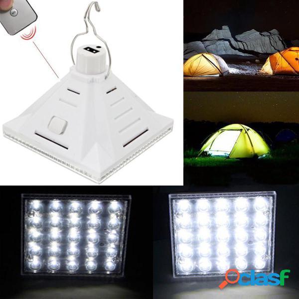 25 LED blanco solar de control remoto de la lámpara de