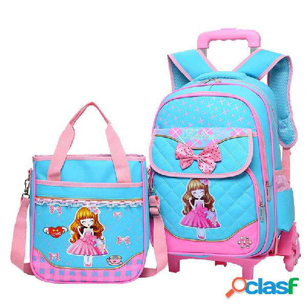 29L 2 piezas para niños Trolley mochila hombro Bolsa