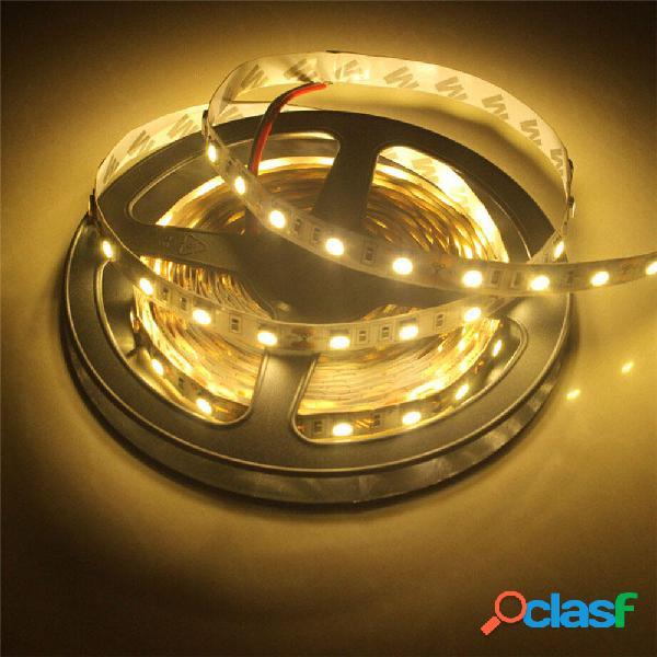 2PCS 5M SMD5050 Cinta flexible no impermeable blanca cálida