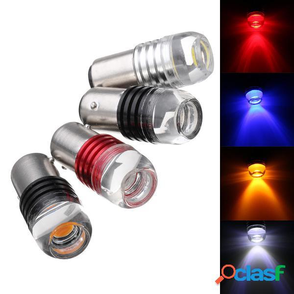 2Pcs 1157 BAY15D COB LED Coche Tail Stop Luces de freno Side