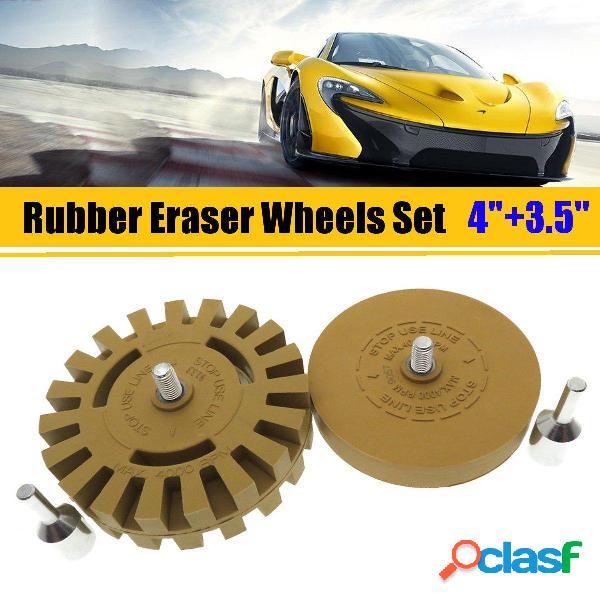 2Pcs 4 y 3.5 Inch Juego de ruedas de goma para el poder