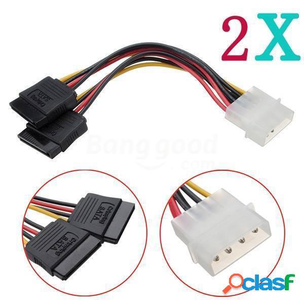 2X4 pines ide molex a 2 cable serial ata divisor de disco