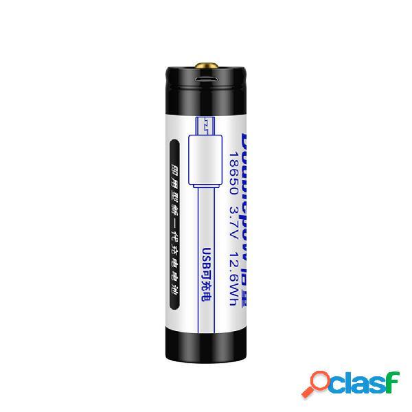 3.7V 3400mAh USB recargable 18650 Lipo Batería para