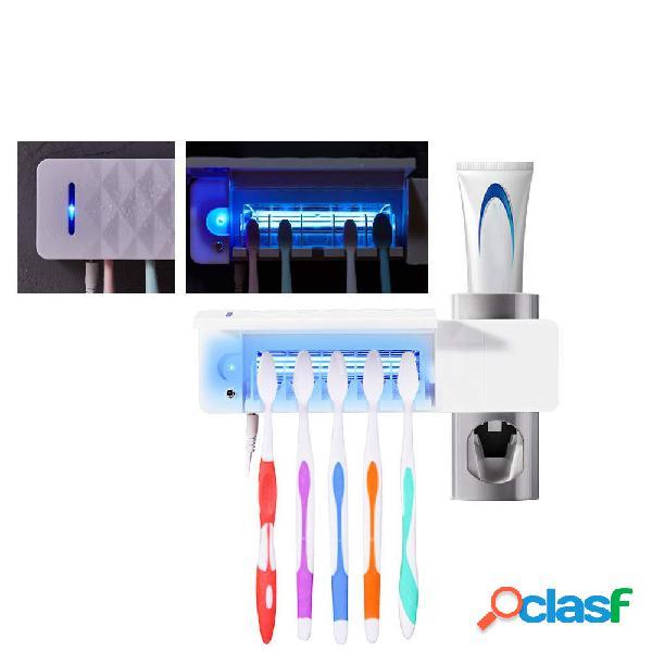 3 en 1 UV Soporte para cepillo de dientes montado en la