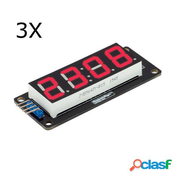 3 piezas 0.56 Inch Rojo LED Tubo de 4 dígitos y 7 segmentos