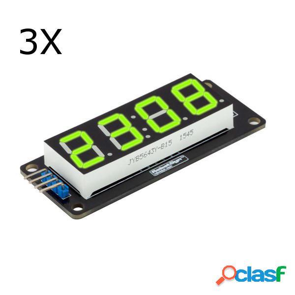 3 piezas 0.56 Inch Verde LED Tubo de 4 dígitos y 7