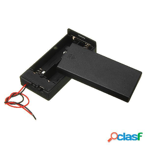 3 piezas de plástico Batería Soporte de almacenamiento