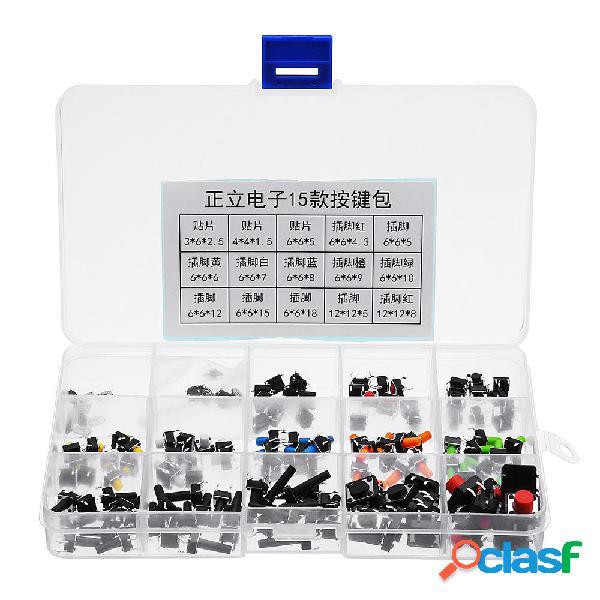 3 unids 15 tipos de interruptor pulsador táctil Micro