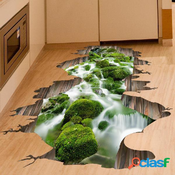 3D Pegatina de Pared Decoración de Flor de Arroyo