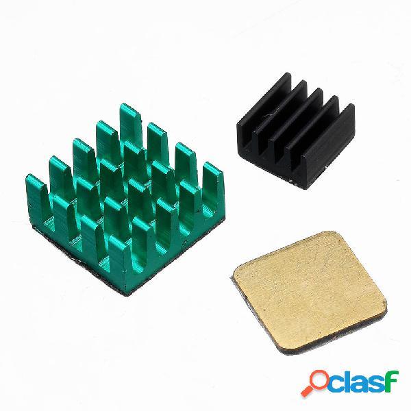 3Unids Kit de Disipador Térmico de Aluminio con Cobre para