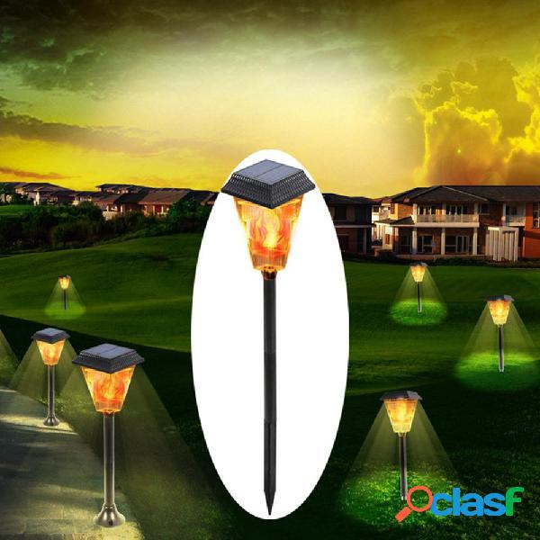 3W Solar Powered 12 LED Flame Lawn Light al aire libre