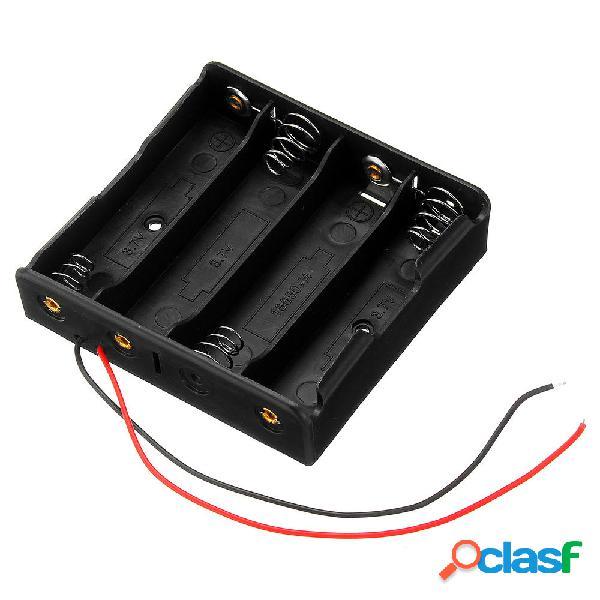 3pcs de plástico Batería de almacenamiento Caso Caja