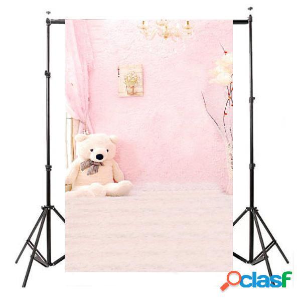 3x5ft telón de fondo de vinilo de interior bebé niño rosa