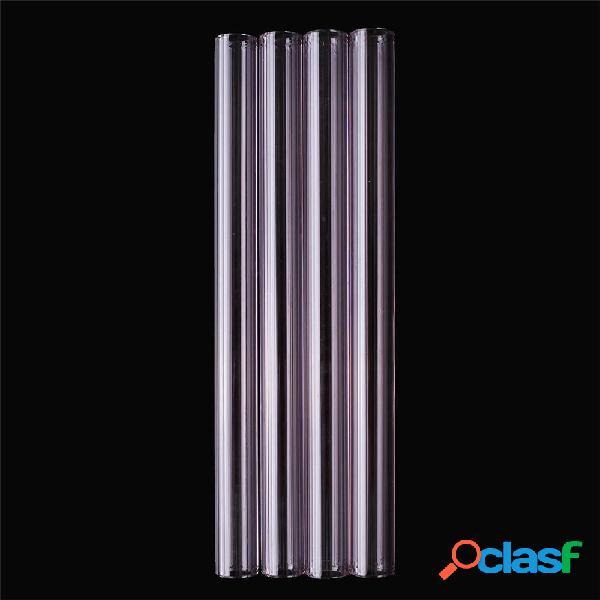 4 Unids 150mm Tubo de Tubo de Vidrio Borosilicato Púrpura