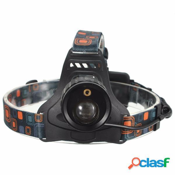 4 modo LED faro del faro zoomable luz de láser blanca y