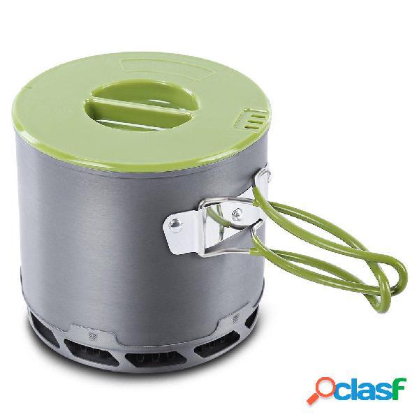 4 unids 2-3 Personas Antiadherente cámping Pot Bowl Pan Set