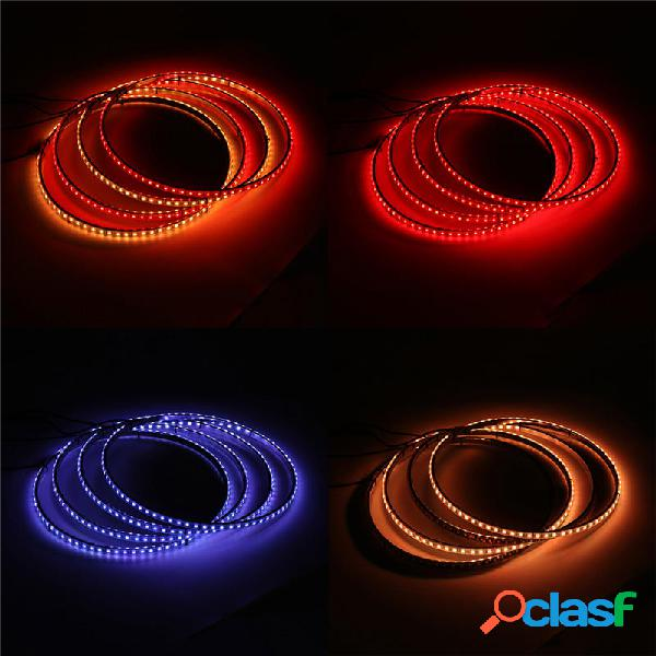 4PCS 15.5 Inch General Coche 60 LED Luces de anillo de rueda