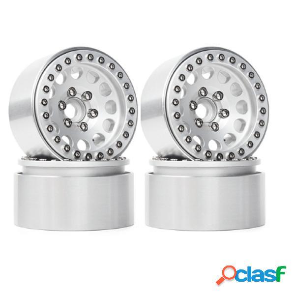 4Pcs Aleación de aluminio 1.9 Beadlock Ruedas Llantas para