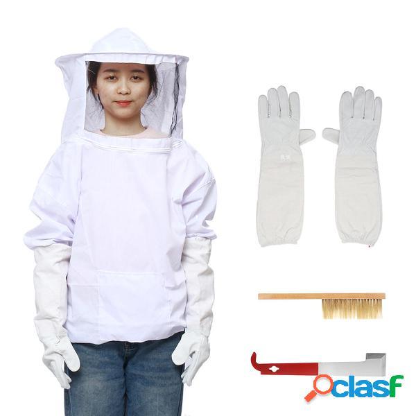 4Pcs Safe Bee-Proof BeeKeeping Veil Sombrero Traje de