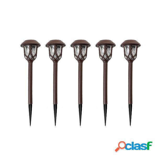 5 Unids / set LED Solar Paisaje de luz de ruta de