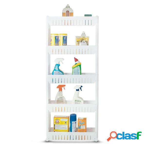 5 niveles Delgado Gabinete de almacenamiento de estantería