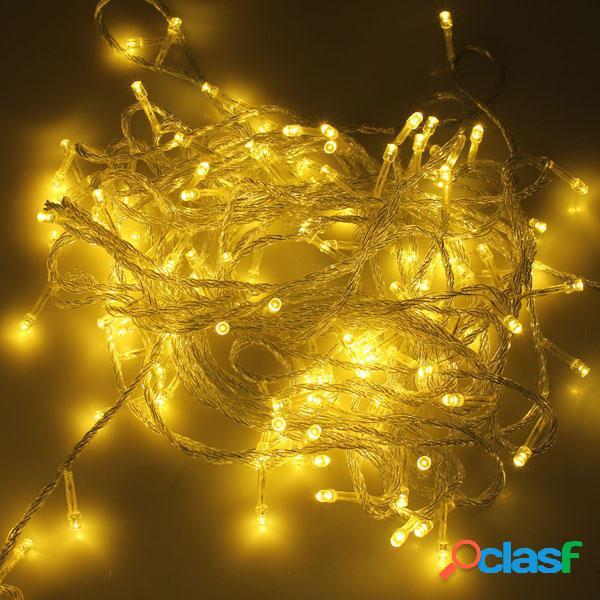 500 LED 50m Luz de Cadena de Decoración Blanco Cálido para