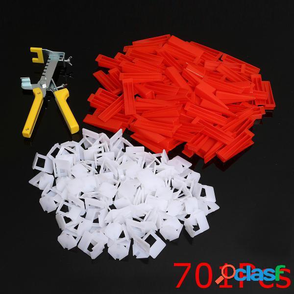 500pcs clips + 200pcs acuña el sistema de nivelación