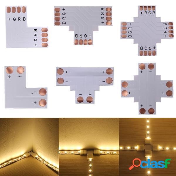 5050 RGB 4-pin LED Strip Conector Corner 10mm DC 12 / 24V