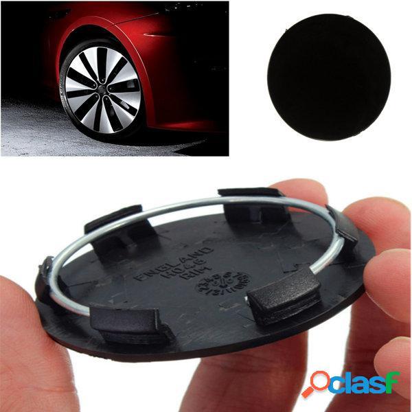 50mm ruedas de coche negro en blanco centro casquillo